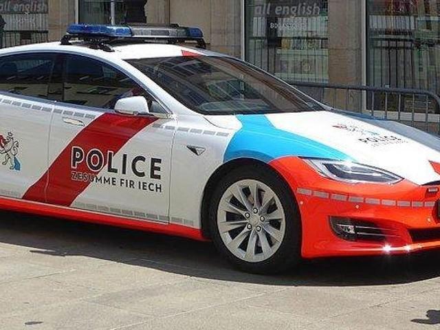 Benziner müsste Strafe zahlen - Polizei-Tesla bleibt mit leerer Batterie auf Autobahn liegen - darum gab's kein Bußgeld