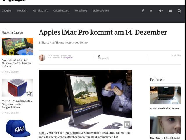Apples iMac Pro kommt am 14. Dezember