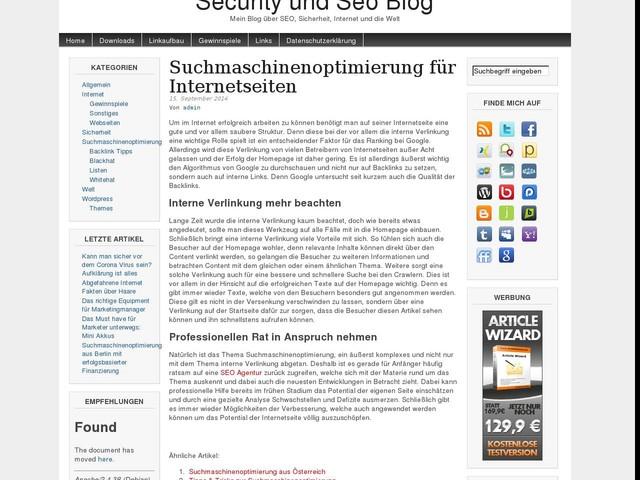 Suchmaschinenoptimierung für Internetseiten