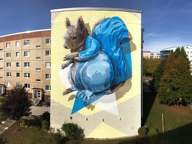 """""""Adjustable Stance"""" – NEVERCREW beschert Jena einen großartigen Mural-Blickfang"""