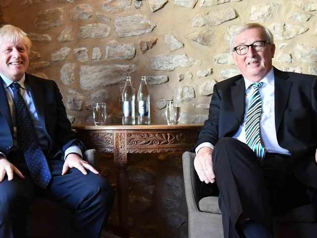 Johnson und Juncker: Brexit zum Mittagessen