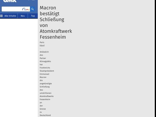 Macron bestätigt Schließung von Atomkraftwerk Fessenheim