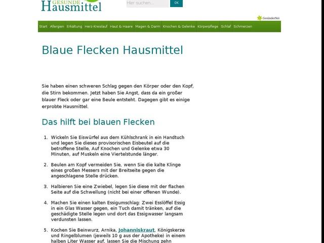 Blaue Flecken Hausmittel   Gesunde-Hausmittel.de