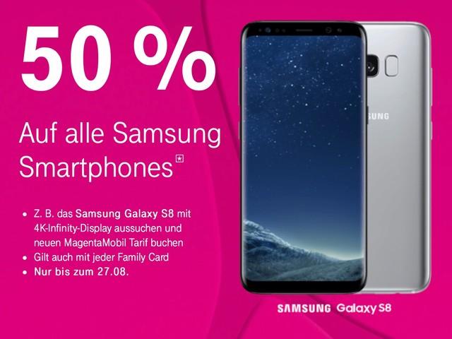 Telekom: 50 Prozent Rabatt auf Samsung Smartphones