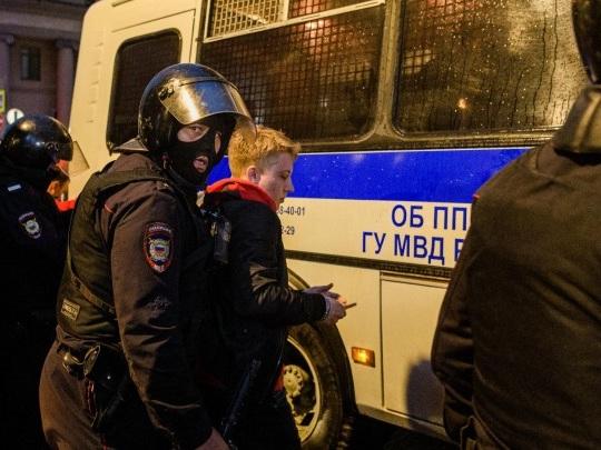 Russland - Festnahmen nach Protesten gegen Putin