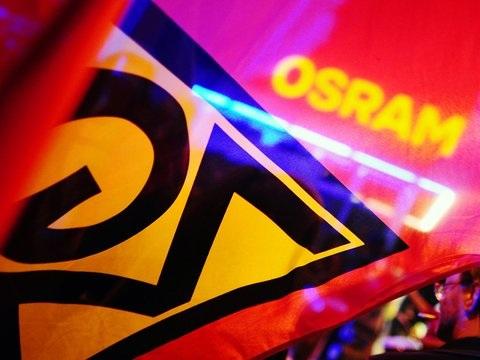 Osram-Beschäftigte demonstrieren vor Konzernzentrale