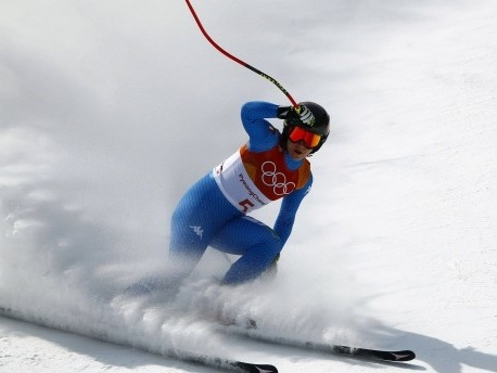 Olympische Abfahrt: Rebensburg verpasst Medaille