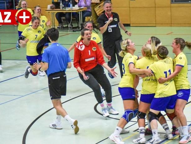Frauenhandball: HSG Vennikel freut sich über Freiwurftor in letzter Sekunde