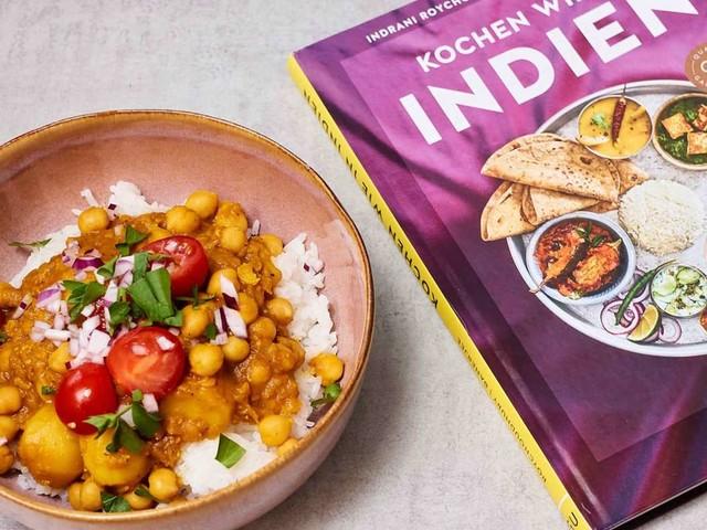 """Nachgekocht aus """"Kochen wie in Indien"""": Kichererbsen nach bengalischer Art"""