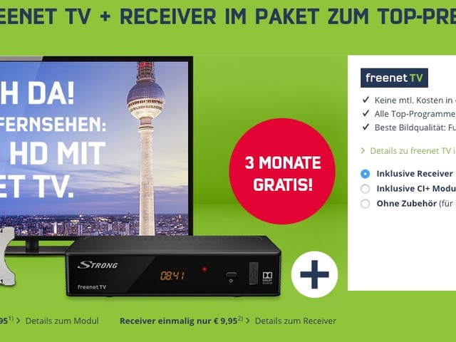 DVB-T2 HD: freenet TV für 3 Monate gratis
