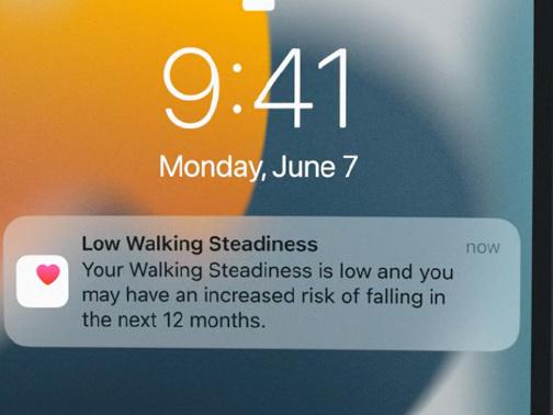 Apple Health überwacht künftig die Stabilität beim Gehen