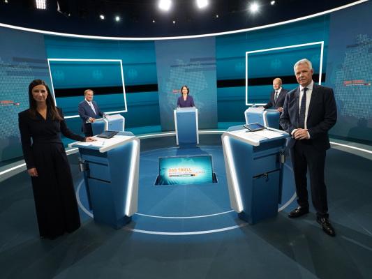 Medienecho zum Wahl-Triell bei RTL: So lief der Schlagabtausch zwischen Baerbock, Laschet und Scholz.