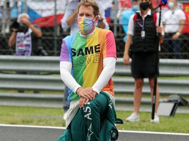 Disqualifikation und Regenbogen-Shirt: Aufregung um Vettel in Ungarn