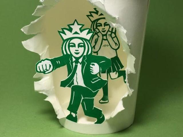 Das geheime Leben der berühmten Starbucks-Sirene   Coffee Cup Kunst von Soo Min Kim