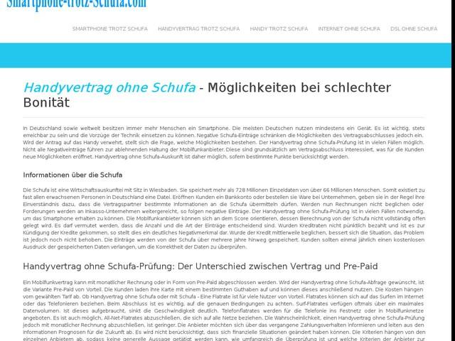 Handyvertrag ohne Schufa - SOFORT Handy ohne Bonität