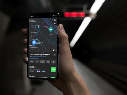 Apple Karten: ÖPNV-Navigation in Wien verfügbar
