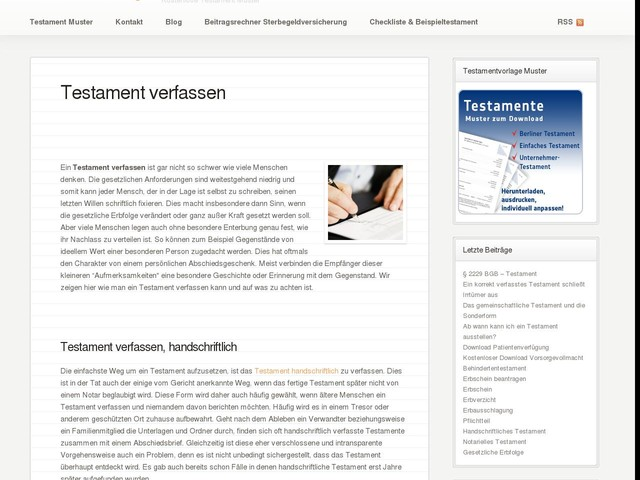 testament verfassen testament vorlagen - Berliner Testament Muster Kostenlos Download