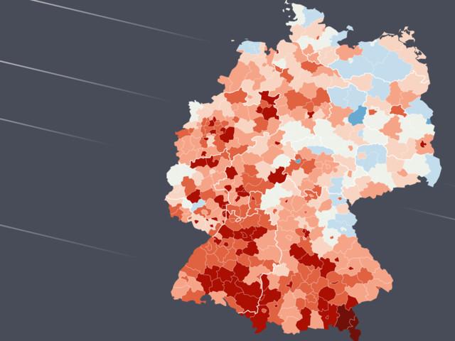 Deutlicher Corona-Trend in deutschen Regionen sichtbar