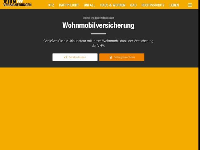Wohnmobilversicherung - Jetzt günstig Wohnmobil versichern: VHV