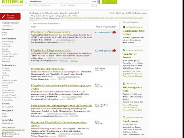 Stellenangebote Alltagsbegleiter Jobs, Jobbörse | KIMETA.DE