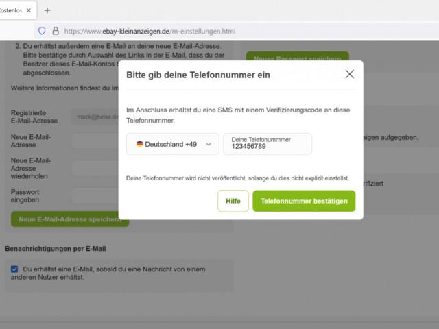 Ebay-Kleinanzeigen: Verpflichtende SMS-Verifizierung zum Schutz vor Belästigung