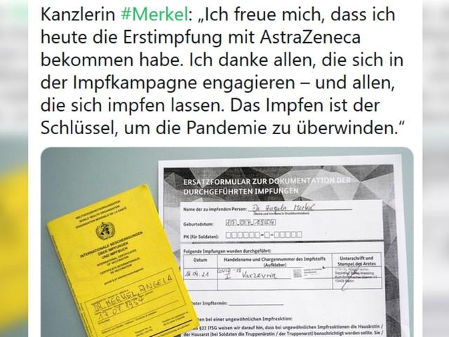 """Reaktionen auf Twitter und Instagram: Glückwünsche für Merkels Astrazeneca-Impfung: """"Wir sind stolz auf dich!"""""""