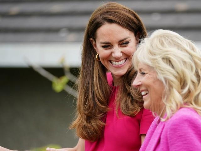 G7-Gipfel in Cornwall: Jill Biden trifft Herzogin Kate - Die Bilder