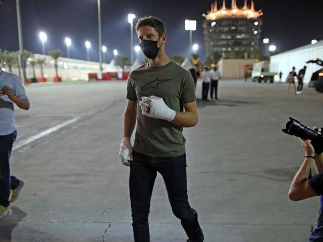 Grosjean humpelte nach Feuer-Unfall zurück ins Fahrerlager