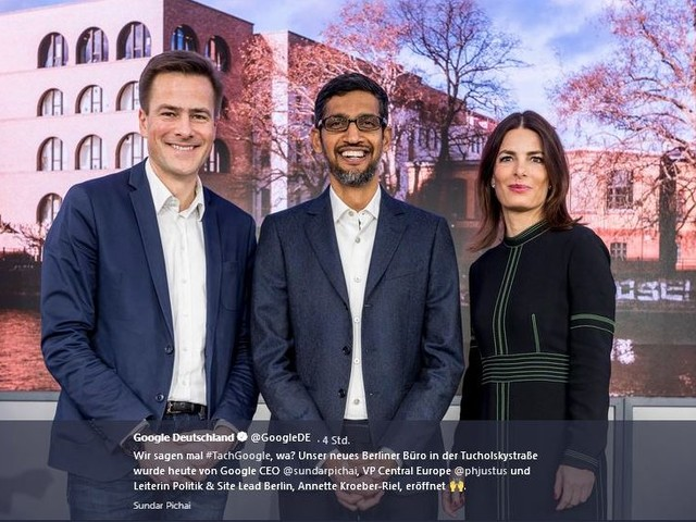 Google-Chef Pindar stellt Initiative für digitale Bildung in Deutschland vor
