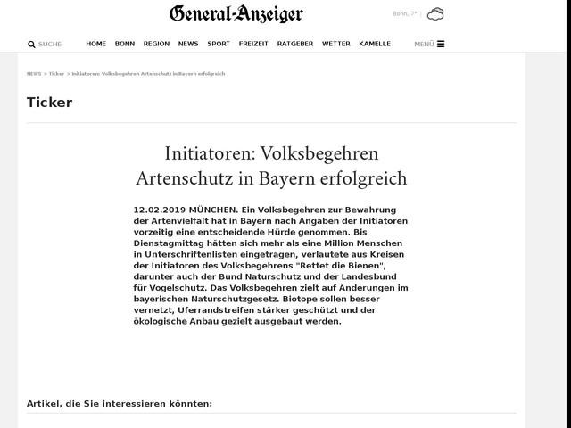 Initiatoren: Volksbegehren Artenschutz in Bayern erfolgreich