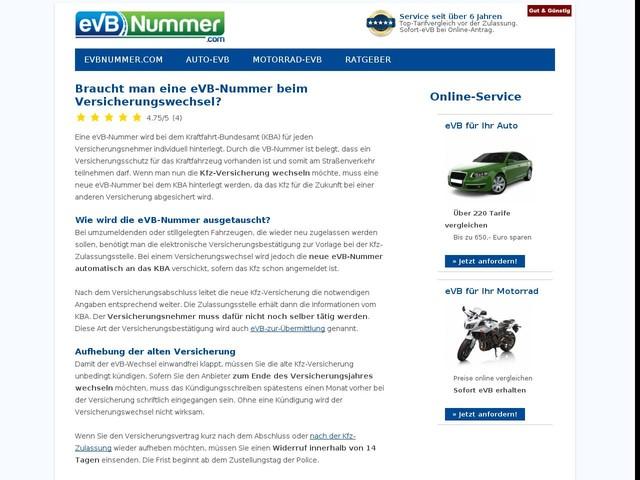 Braucht man eine eVB-Nummer beim Versicherungswechsel?