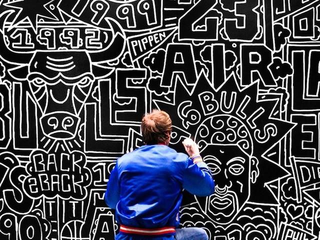 Timothy Goodman huldigt den größten NBA-Teams mit einer Mural-Hommage in NYC