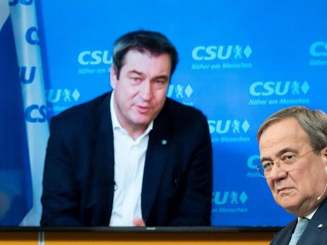 Startschuss für Zweikampf Söder gegen Laschet für Kanzleramt