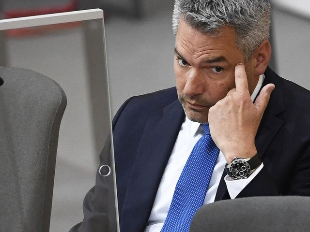 Nehammer entsetzt über Diskussion wegen Klagen seiner Frau