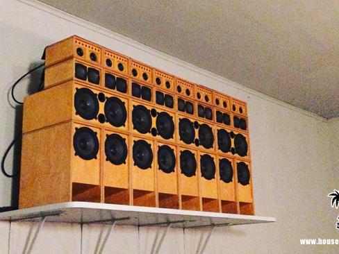 Ein Mini Reggae Sound System in Berlin-Neukölln