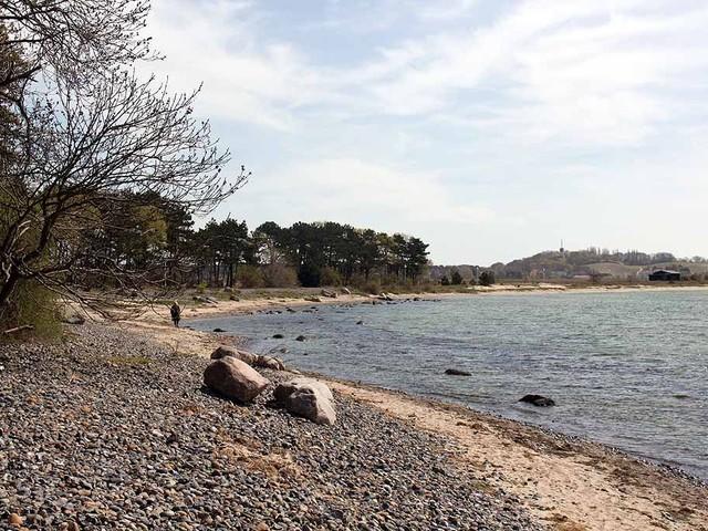 Rügenaquarell von der Steilküste von Klein Zicker