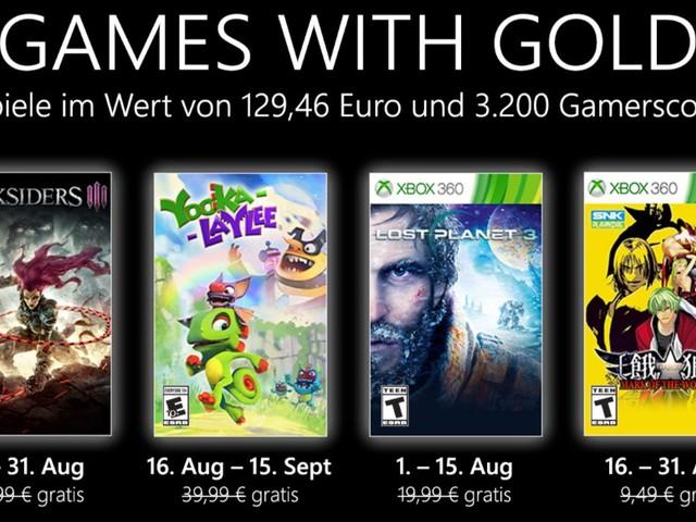 Xbox Games with Gold: Im August 2021 mit Darksiders 3, Yooka-Laylee und Garou: Mark of the Wolves