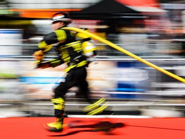 Wettbewerb: Europameisterschaft:Feuerwehr-Fitness bei 30 Grad