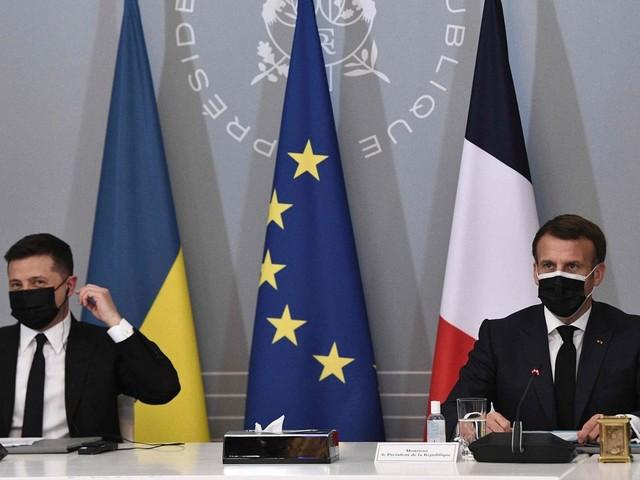 Ukraine-Konflikt: Merkel, Macron und Selenskyj verlangen russischen Truppenabzug