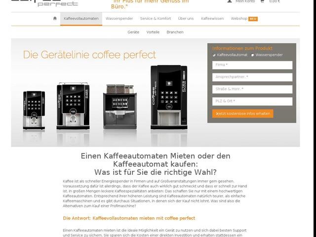 Kaffeevollautomat mieten oder kaufen? >> coffee perfect