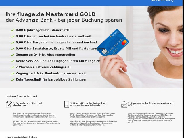 fluege.de Mastercard GOLD – so sparen Sie beim Buchen!