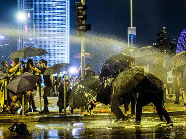 """Hongkong: Gewalt am Jahrestag der """"Regenschirm-Proteste"""""""