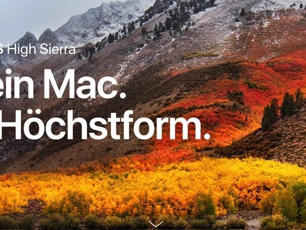 Das neue macOS High Sierra wird am 25. September veröffentlicht