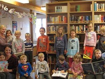 Einladung für Kindergartenkinder in die Bücherei