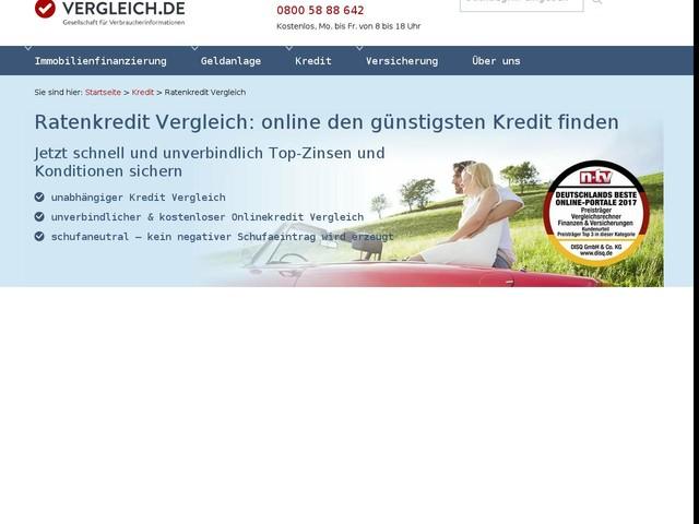 Ratenkredit Vergleich: Top-Zins sichern | Vergleich.de