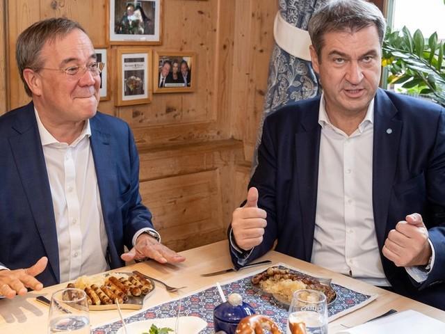 Bundestagswahl im News-Ticker – Bratwürstchen und Sauerkraut: Laschet besucht Söder