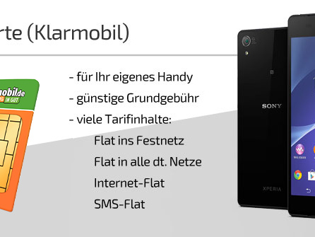 SIM Karte ohne Handy | Klarmobil SIM Karte günstig