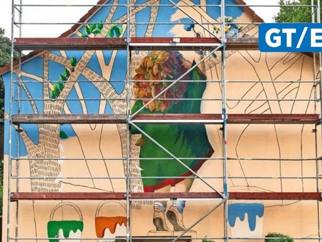 """Das erste von vier """"Murals"""" entsteht in der Weststadt"""