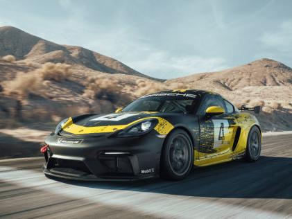 Porsche 718 Cayman GT4 Porsche zeigt Bio-Cayman