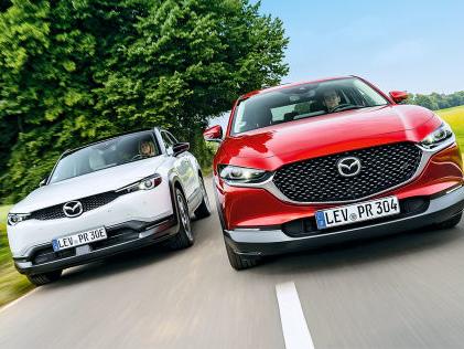 Mazda CX-30/MX-30: Kaufberatung, Elektro, SUV, Akku, Reichweite, Ausstattung Brüder im Geiste: Was leisten Mazda CX-30 und der vollelektrische MX-30?
